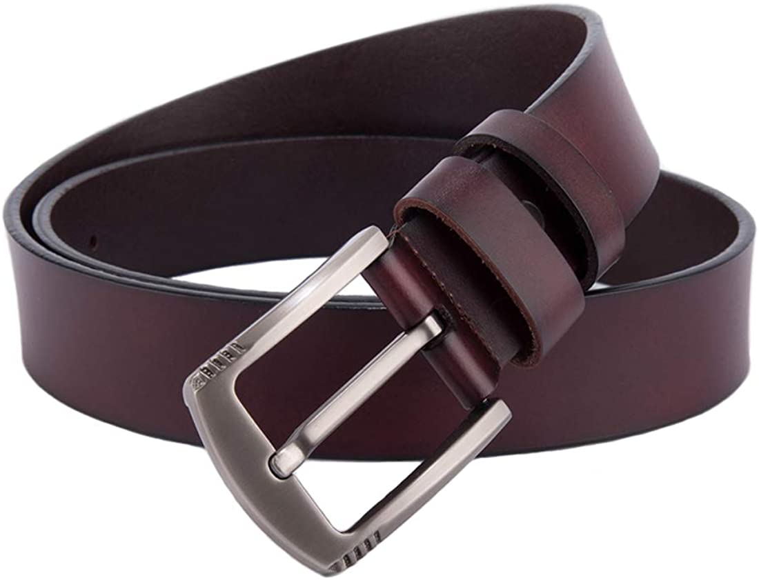 Vatee's Men's Genuine Leather Jean Belt Limited time for free shipping Buckle 3 with 1.5