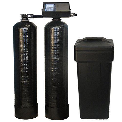DuraWater 32k-56sxt-10 Fleck 9100 SXT Twin Tank Metered On-Demand Softener 24/7 Soft Water Ships Loaded, almond