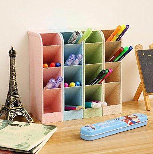 Organizador de escritorio para lápices, cajitas de almacenamiento para oficinas, profesores, colegios,...