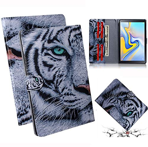 Katumo Tablet Case Compatible with Samsung Galaxy Tab A 10.5 2019 Case with Card Pocket Super Light Stand Protective Case for Samsung Tab A T590/T595 2019 10.5 Inch tiger