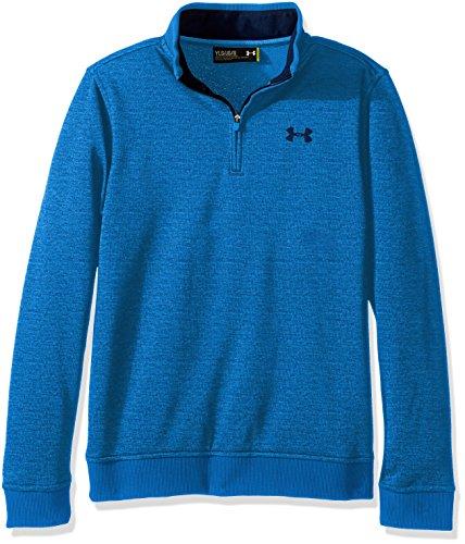 Under Armour Boys' Storm SweaterFleece 1/4 Zip,Mako Blue /Academy, Youth Large