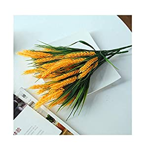 Sevem-D New 3 Pieces/Lots Flowers Yellow Wheat Grain Flower Artificial Restaurant Table Placed Accessories Plants,Yellow