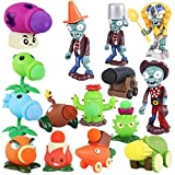 Crasoldiers Plants Vs Zombies Toys, 15 Piece PVZ Figures, Non-Toxic Dolls, Environmentally Friendly PVC, Great Gift for Children and Fans?No Background?
