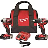 Milwaukee 2892-22CT M18 Compact Brushless 2-Tool Combo Kit, Drill Driver/Impact Driver