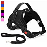 Musonic No Pull Dog Harness, Breathable Adjustable Comfort, Free Leash Included, for Small