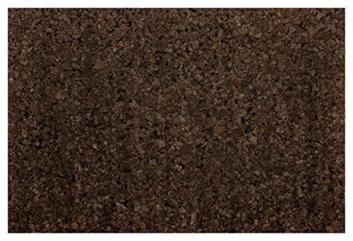 XL Korkrückwand Schwarzkork | expandiertes Korkgranulat | Naturkork | Backkork | 90x60 cm | 2 cm dick | gereinigt und desinfiziert Rückwand für Terrarium & Vivarium