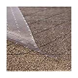Resilia - Clear Vinyl Plastic Floor Runner/Protector for Deep Pile Carpet - Non-Skid Decorative Pattern, (36 Inches Wide x 12 Feet Long)