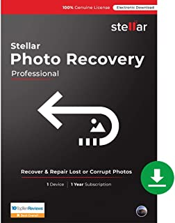 Stellar Photo Recovery Software V10 | Mac | Professional | 1 Mac 1 Year | Email Delivery