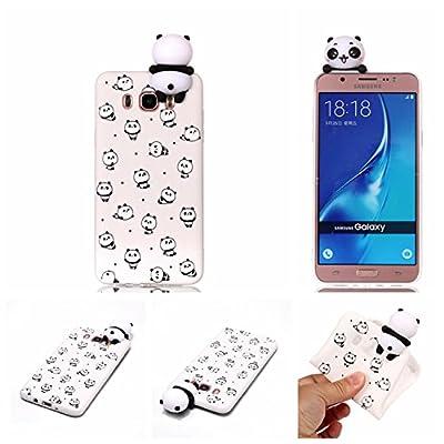 HopMore Funda para Samsung Galaxy J5 2016 Silicona Motivo 3D Divertidas Unicornio Panda Bonita TPU Gel Ultrafina Slim Case Antigolpes Cover Protección Carcasa Dibujo Gracioso - Pequeño Panda