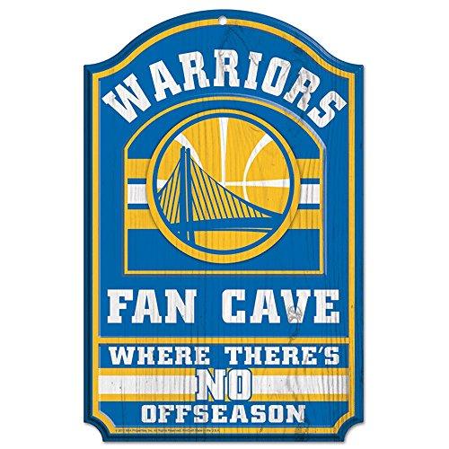 Wincraft NBA Golden State Warriors 38400012 - Señal de Madera, 28 x 43 cm, Color Negro