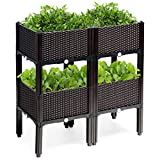 Giantex 4 Raised Planter Boxes
