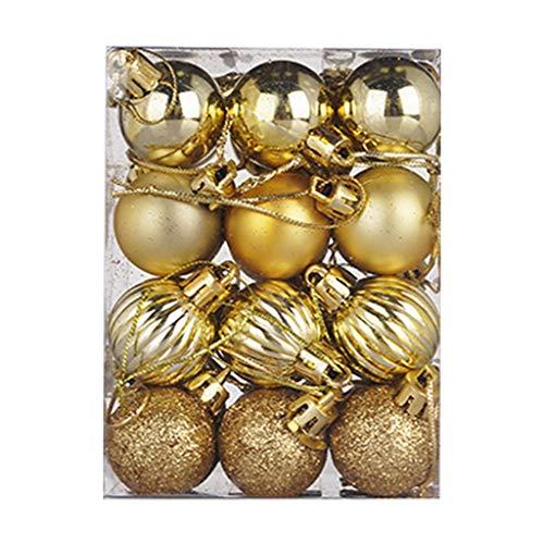 Dergo 30mm Christmas Xmas Tree Ball Bauble Hanging Home Party Ornament Decor 24PC Home Decor
