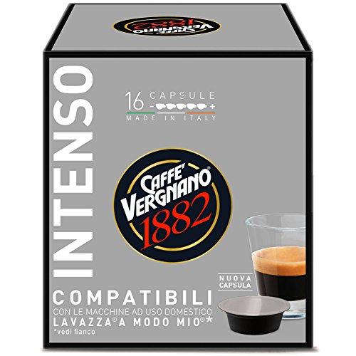 Caffè Vergnano 1882 Capsule Caffè Compatibili Lavazza A Modo Mio, Intenso - 8 confezioni da 16 capsule (totale 128)