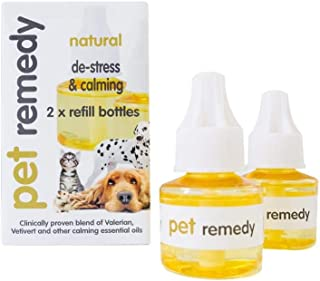 Dog Rocks - Pet Remedy Natural Essential Oils for Calming Animals - 2 Refills for 40ml Diffuser