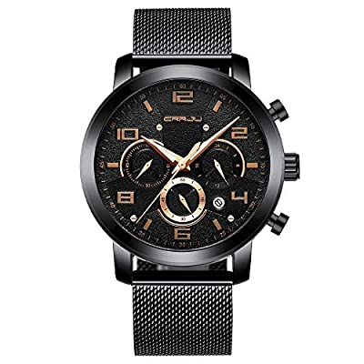 Amazon - 71% Off on Men's Classical Casual Auto Date Watches Multifunctional Chronograph Waterproof Wristwatches
