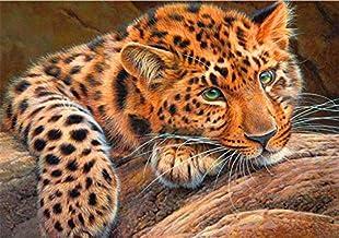 Paintings 5D DIY Diamond Painting Leopard Diamond Embroidery Cross Stitch Animals Rhinestone Mosaic Home Decor LZHCUICAN (...