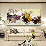 AYHBV Mural 70X140Cm - Modern Abstract Canvas Painting Wall Art Poster Hand Painted Flowers Prints On Canvas For Living Room Home Decoration