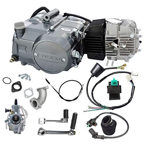 ZXTDR Lifan 125cc 4 Stroke Air-Cooled Engine Motor With Carburetor Wiring Harness Kit for XR50 CRF50 XR CRF 50 70 Dirt Pit Bike Kawasaki
