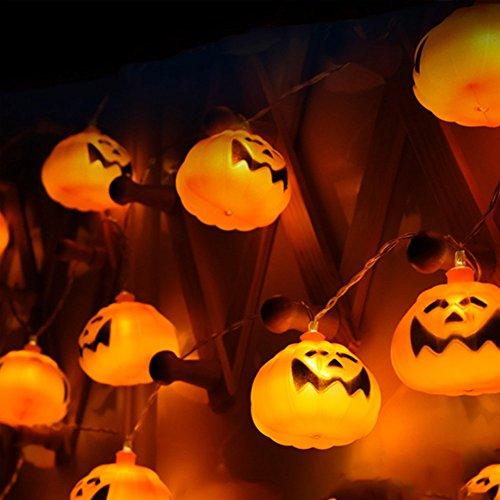 Halloween Luci Stringa, Zucca Luce Della String, Halloween Zucca Luminosa, Halloween Catena Luminosa,16LEDs Halloween Zucca Luminosa Led Luci Stringa,Decorazioni per Feste Halloween Zucca Decorazioni