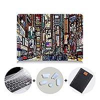 YIBO グラフィティ場合のMacbook Airは11 13のProのRetina 12 13 15 16インチのタッチバーは、2020カバーはマックブックProの13.3 A2289 +ラップトップバッグ (Color : MB15, Size : Pro 15 A1707 A1990)