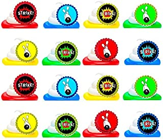 Bowling Easy Toppers Cupcake Decoration Rings -12pk