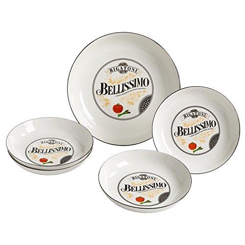 Maxwell & Williams RW9607 Bellissimo Pasta Set 5-teilig, Porzellan