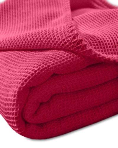 Sport-Tec Pique-Decke mit Zierstich-Einfassung, 210x150 cm, Rot