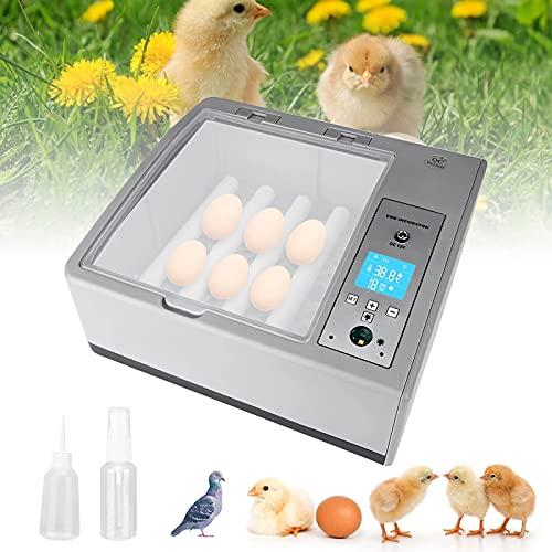 MATHOWAL Incubadora de 16 huevos con giro automático y nacedora con iluminación LED para terrarios, con giro automático de huevos y control de temperatura, adecuada para la granja y el hogar