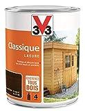 V33 Lasure Classique 4 ans, Chêne Foncé, 1L