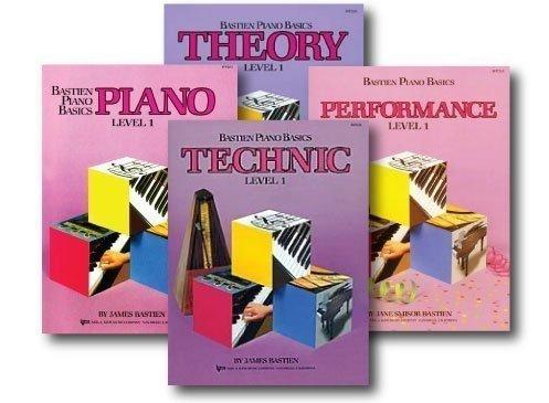 Bastien Piano Basics, Level 1 Learning Library Set - Piano, Theory, Performance, and Technic Books