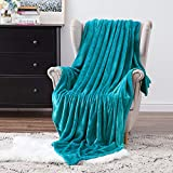 MIULEE Fleece Throw Blanket Soft Flannel Cozy Turquoise Bed Blanket Fuzzy Plush Warm for Couch Sofa Bed Throw Size 50'x60'