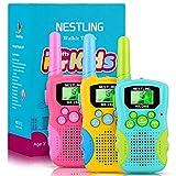 Nestling Kids Walkie Talkies 3 Pack, 8 Channels 2 Way Radio Walky Talky