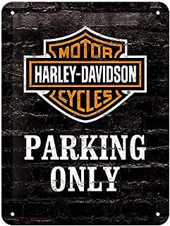 Nostalgic-Art Parking Only, Tin Sign 15 x 20 cm 26117 Harley-Davidson Solo Aparcamiento, Metal, Colorido, 15x20x0.2 cm
