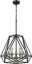 sansa 5 light chandelier dark bronze