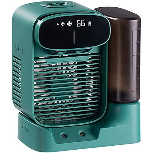Liumintoy Mini Enfriador de Aire, Mini Aire Acondicionado portátil 2 en 1, Enfriador de Aire y humidificador y Ventilador con 3 velocidades Ajustables, hogar y la Oficina