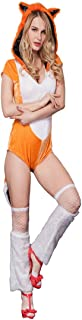 Ainiel Animal Fancy Sexy Halloween Cosplay Fox Costume Dress Bodysuit for Women