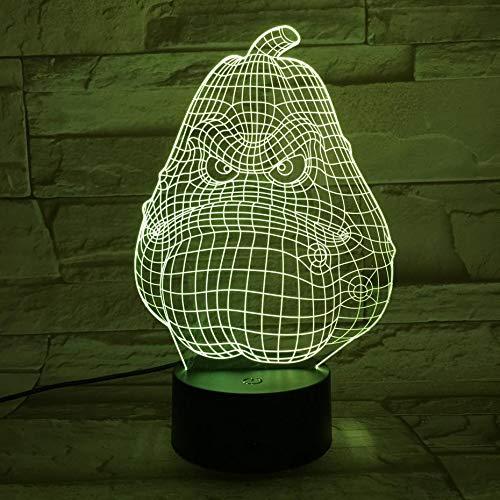 Planten tegen zombies 3D lamp bedlampje, nachtlampje voor de kinderkamer, led-lamp voor de woonkamer perfect geschenk voor kinderen