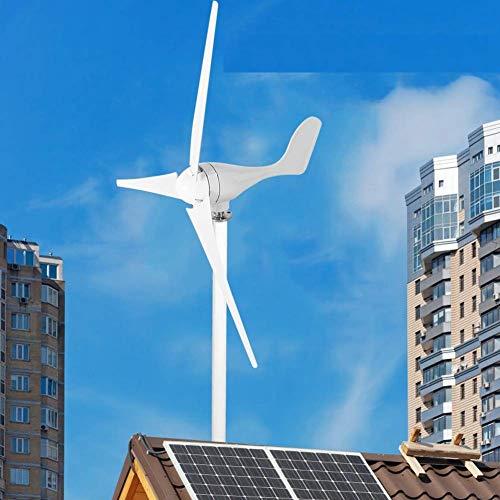 12V 500W Generador de Turbina Eólica Aerogenerador de 3 Palas Turbina de Viento de Aleación...