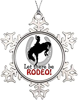Metal Ornaments Rodeo Horse Personalised Christmas Tree Decoration Customized Snowflake Ornaments