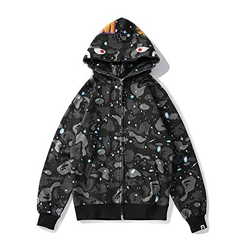 Trsiufyo Bape Shark Felpa con Cappuccio Giacca da Uomo Casual Luminosa Camouflage Felpa con Cappuccio Fashion Sportswear-The