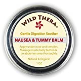 Wild Thera Anti Nausea Balm. Natural Pregnancy Nausea Relief. Herbal Ginger Balm for PMS Bloating...