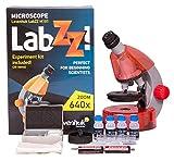 Levenhuk Microscopio per Ragazzi LabZZ M101, Color Arancio, con Kit per Esperimenti – Scegli Il Tuo Colore Preferito
