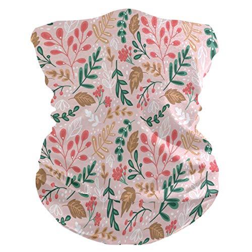 Bloemen en planten Gezichtsmasker voor buiten Multifunctioneel Naadloos Microfiber Anti-druppel UV-bescherming Gezicht Nekschilden Hoofddeksels voor mannen en vrouwen