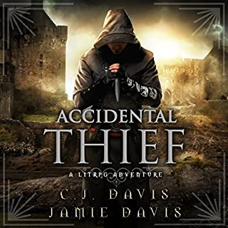 Accidental Thief     LitRPG Accidental Traveler Adventure, Book 1              By:                                                                                                                                 Jamie Davis,                                                                                        C.J. Davis                               Narrated by:                                                                                                                                 Roberto Scarlato                      Length: 9 hrs and 3 mins     469 ratings     Overall 4.3