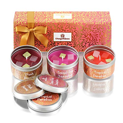 the gift box Gifts for Women. Scented Candles, Birthday Gifts for Mum. Ideal Christmas and Xmas Gifts Anniversary and Birthday Gifts for Her. Perfect Present. (Gigglerain)