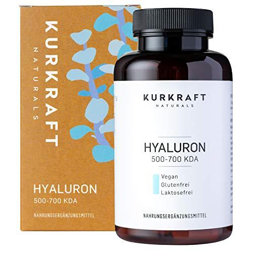 Kurkraft® Hyaluronsäure Kapseln - 500mg - Natürlich fermentiert - Vegan - 500-700 kDa - Hochdosiert - 90 Kapseln (3 Monate) - laborgeprüft - gewissenhaft hergestellt in DE