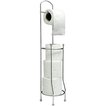 Free Standing Toilet Roll Holder For Easier Storage Amazon De Küche Haushalt