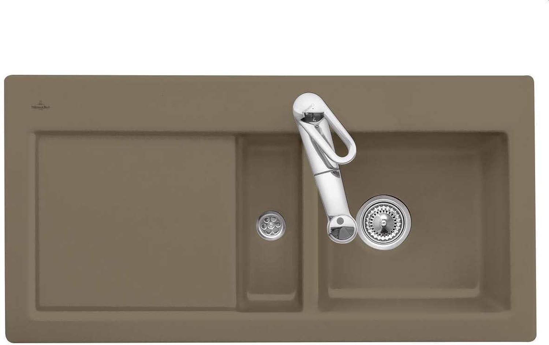 Villeroy & Boch Subway 60 Timber Braun Keramik-Spüle Auflagespüle Spültisch