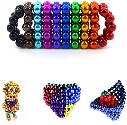 Eagool Bolas Magnéticas de Colores Edición Especial, 100 Bolitas Magnéticas, Magnetic Balls, Imanes Pequeños para aliviar el Estrés, Perfecta Idea de Regalo Antiestrés, Bolas de Iman (colorido)