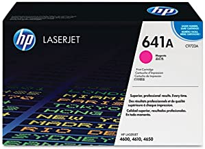 HP C9723A 641A LaserJet 4600 4610 4650 Toner Cartridge (Magenta) in Retail Packaging